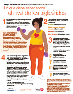 Triglyceride Infographic Spanish